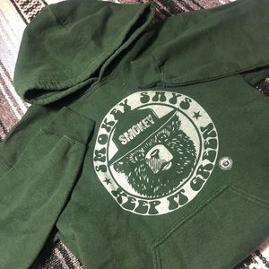 Forest Green Smokey the Bear Hoodie